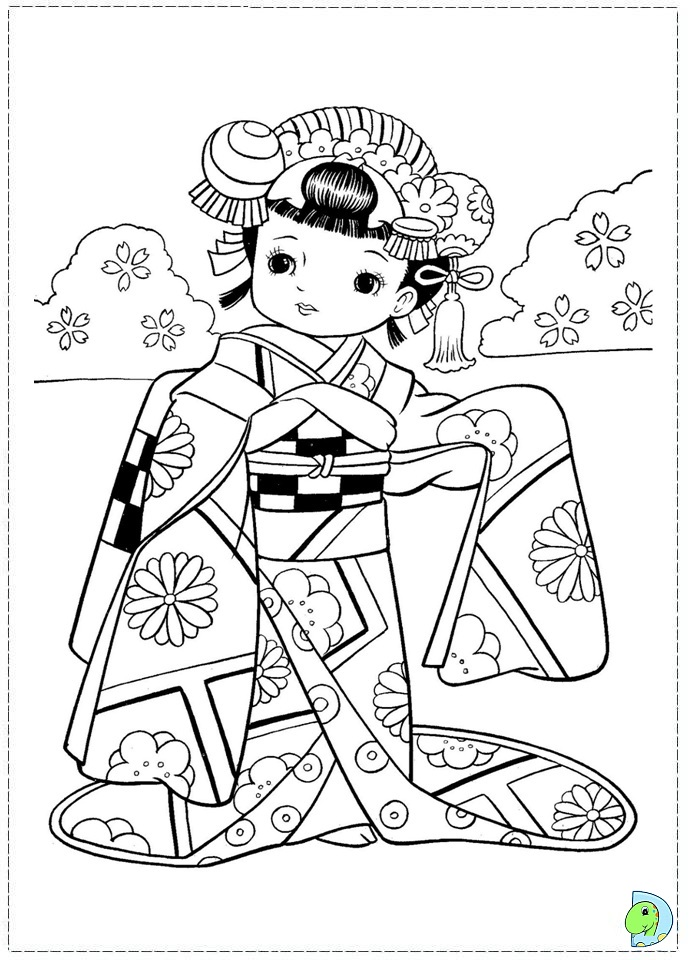 free coloring pages japanese girls - photo#11