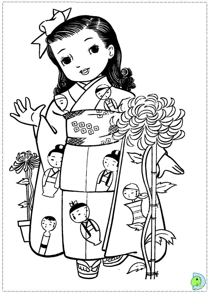 free coloring pages japanese girls - photo#18