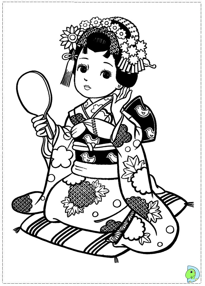 free coloring pages japanese girls - photo#3