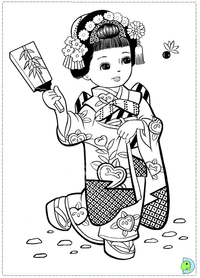 free coloring pages japanese girls - photo#7