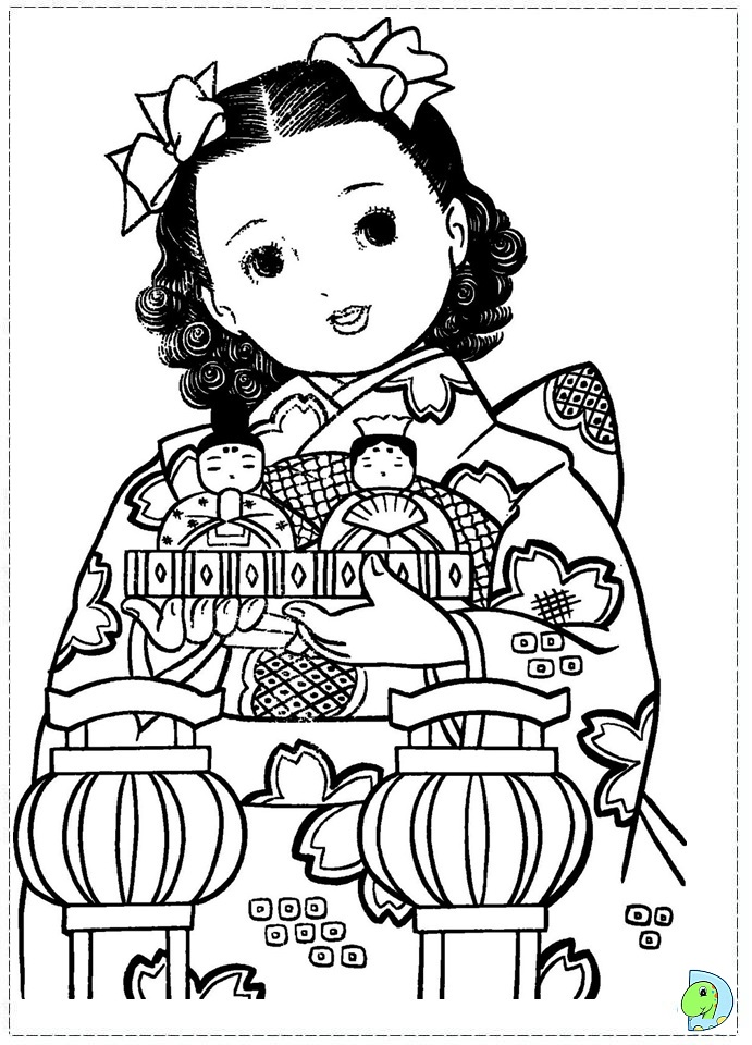free coloring pages japanese girls - photo#15