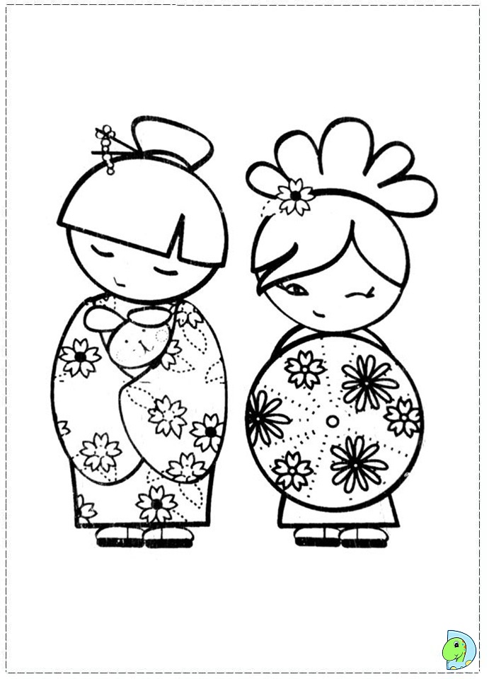 doll coloring book pages - photo#23