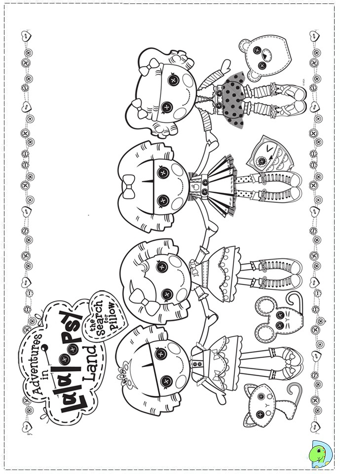 lalaloopsy coloring pages dinokidsorg - Lalaloopsy Coloring Pages