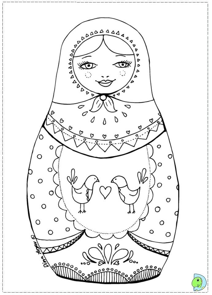 matroyshka dolls coloring pages - photo#3