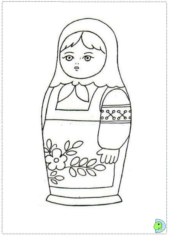 matroyshka dolls coloring pages - photo#11