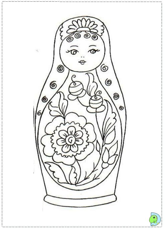 matroyshka dolls coloring pages - photo#13