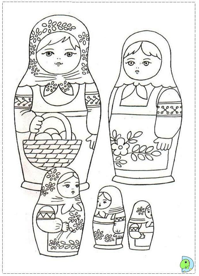 matroyshka dolls coloring pages - photo#20