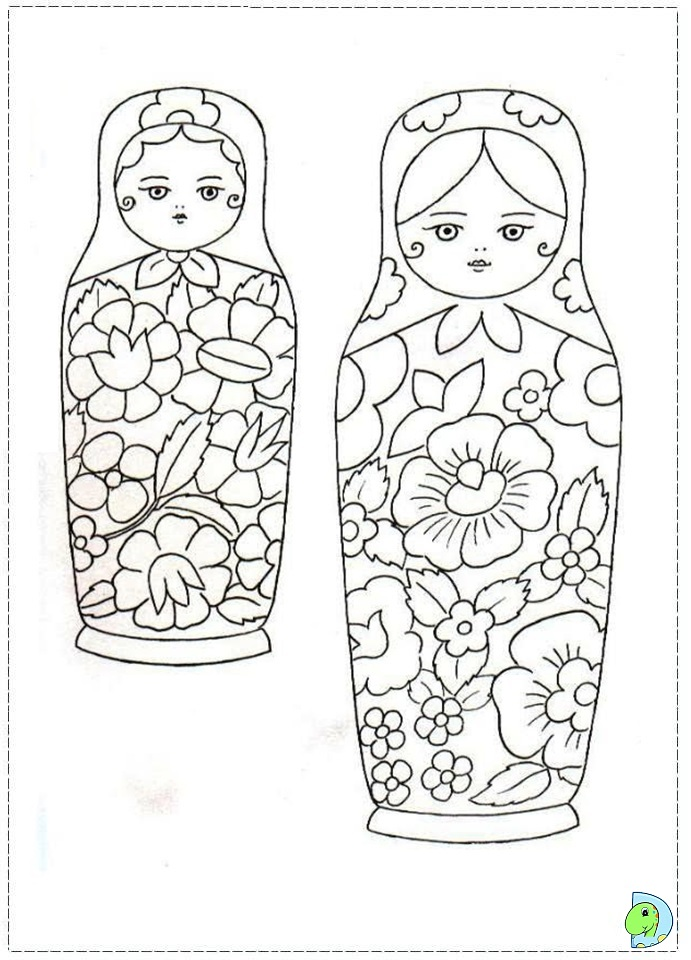 matroyshka dolls coloring pages - photo#9