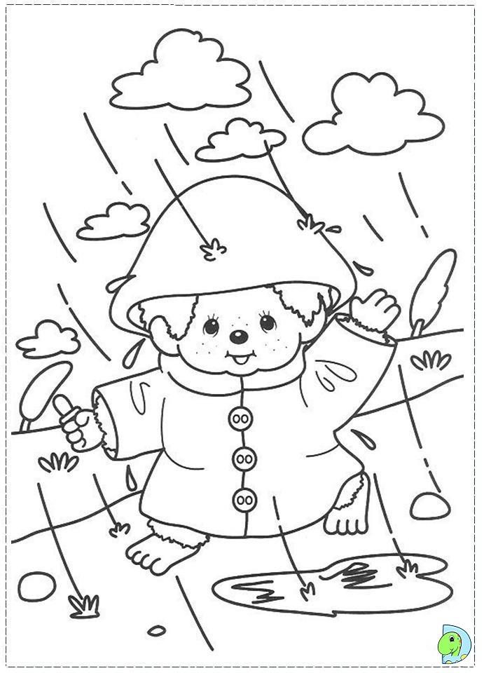 monchichi coloring pages - photo#17