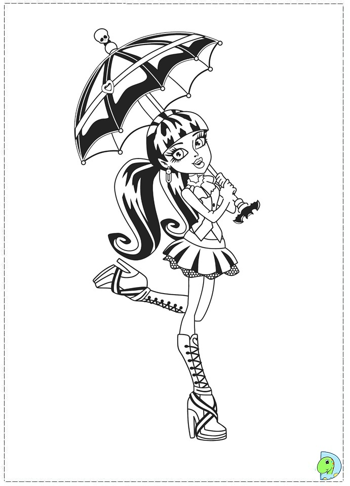 Monster High Coloring page- DinoKids.org