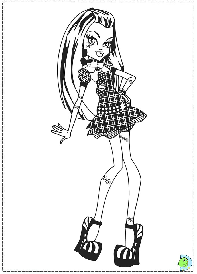 Monster High Coloring Page DinoKidsorg