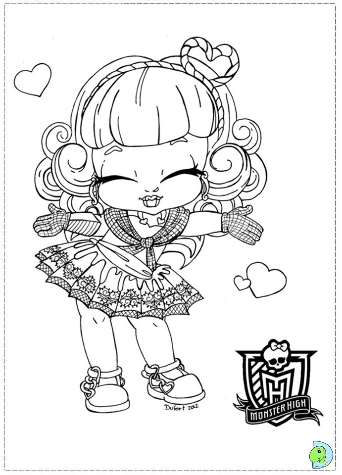 scary porcelain doll coloring page coloring pages - Scary Monster High Coloring Pages