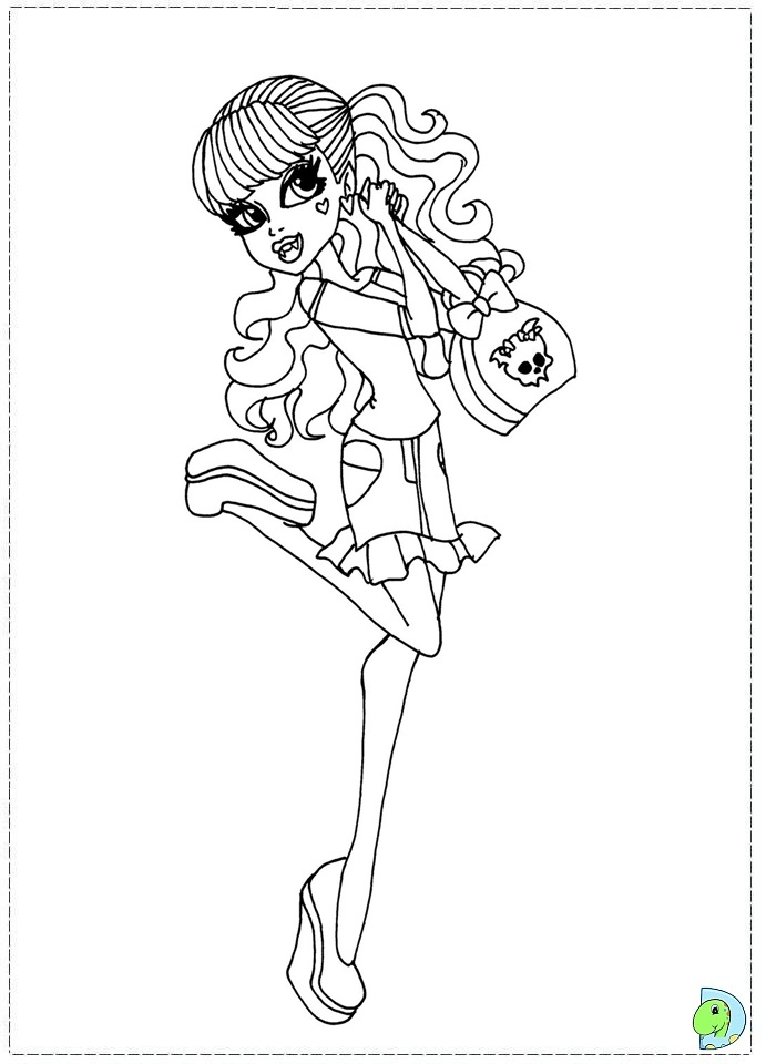 Coloring Page High Dolls Coloring Pages