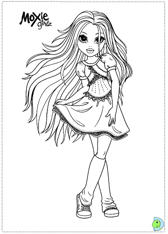 Moxie Girlz Coloring Page Dinokids Org Moxie Girlz Colouring Pages