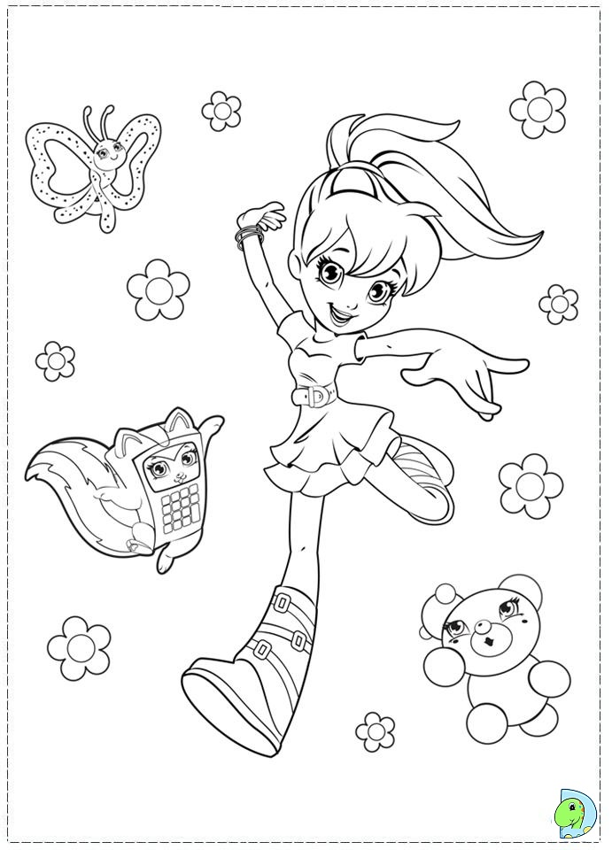 free polly pocket coloring pages - photo#6