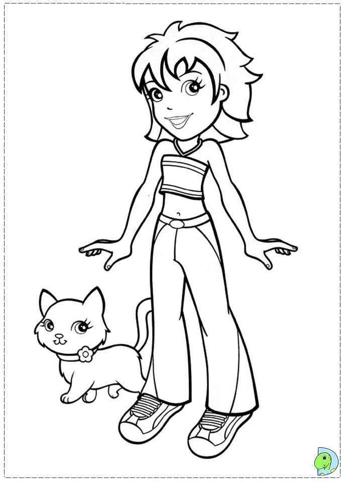 Polly Pocket Coloring Page DinoKidsorg