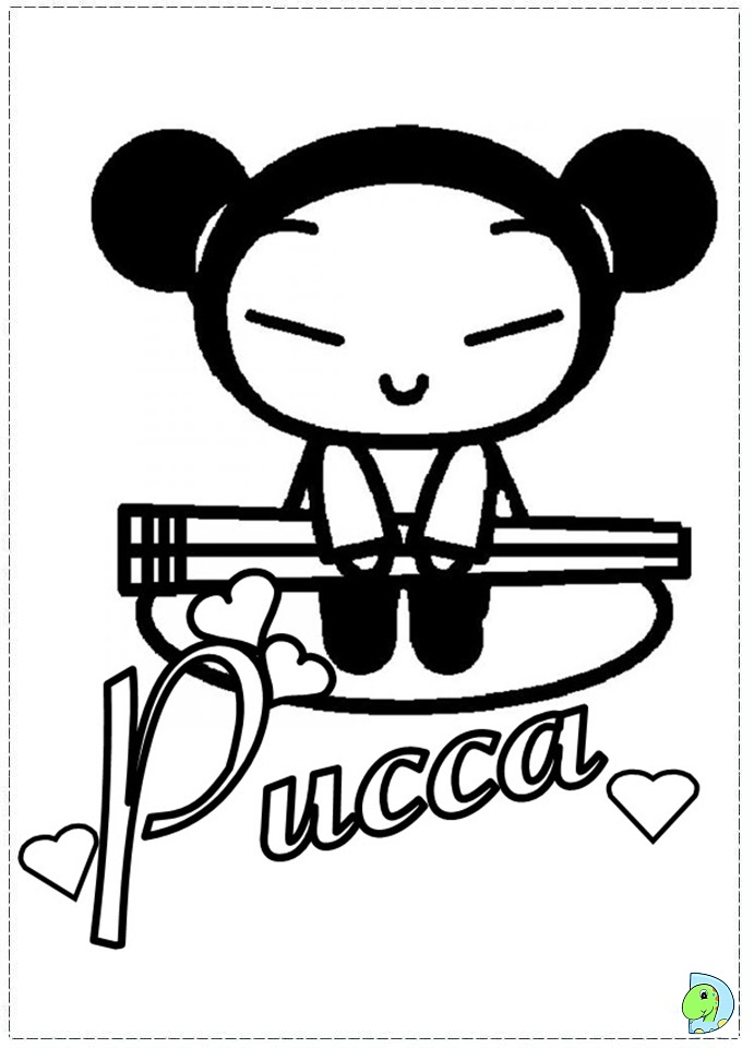 pucca coloring pages - photo#13