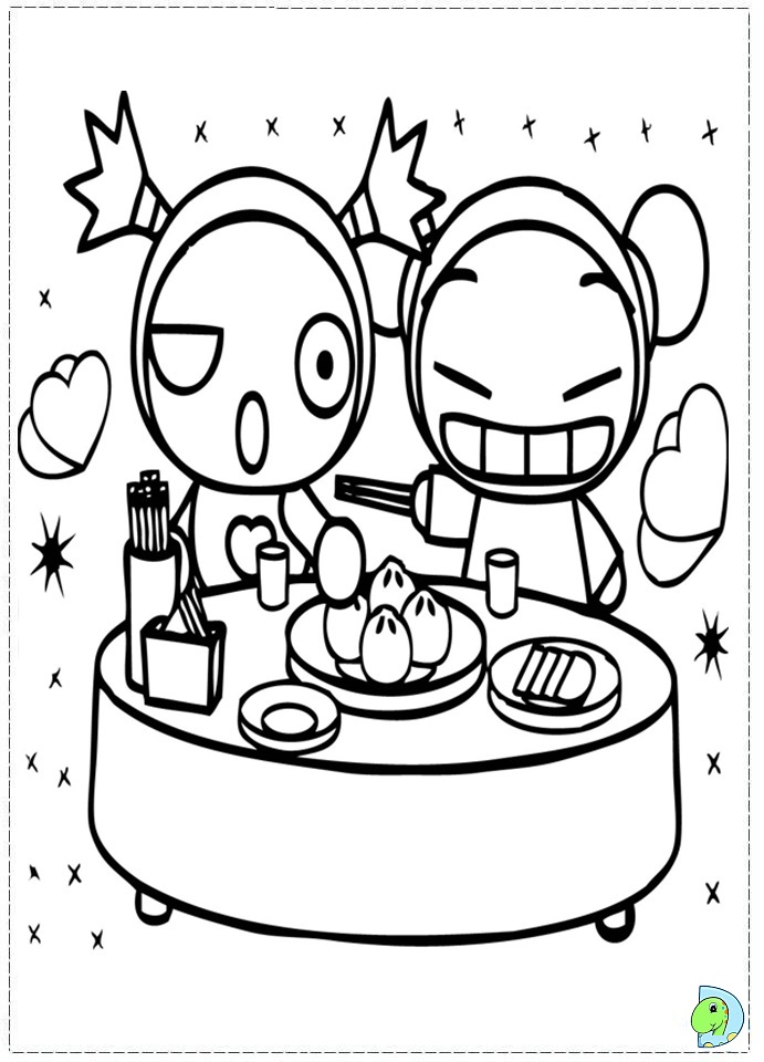 pucca coloring pages - photo#24