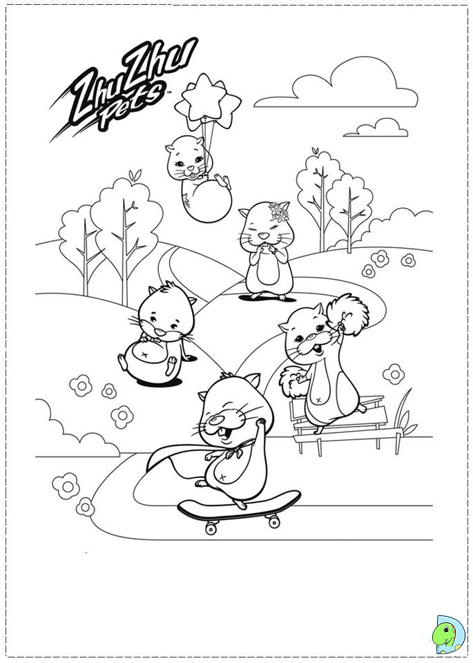 Zhu Zhu Pets Coloring page DinoKids