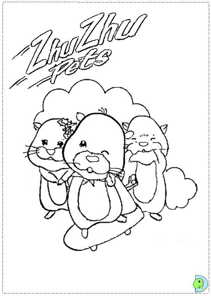 zhu zhu pets coloring page  dinokids org