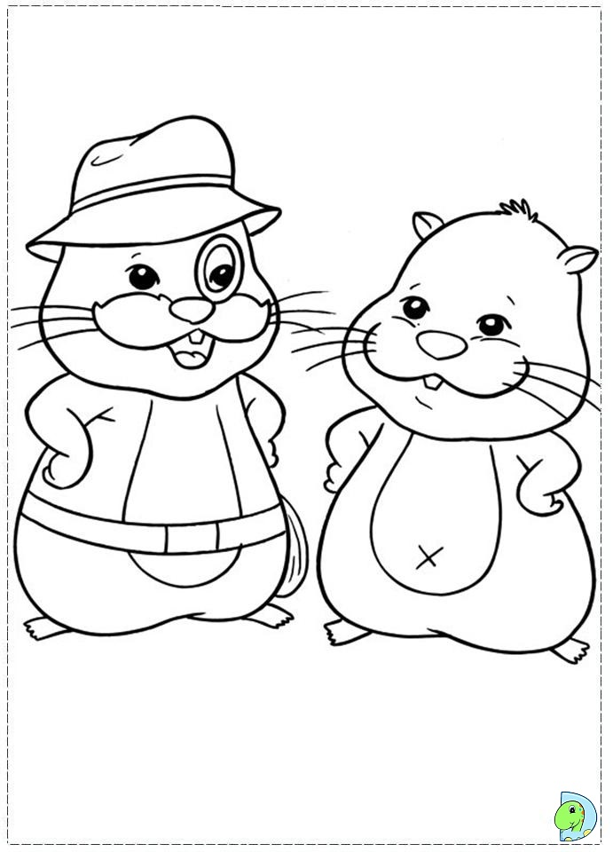 Hamster cage coloring page