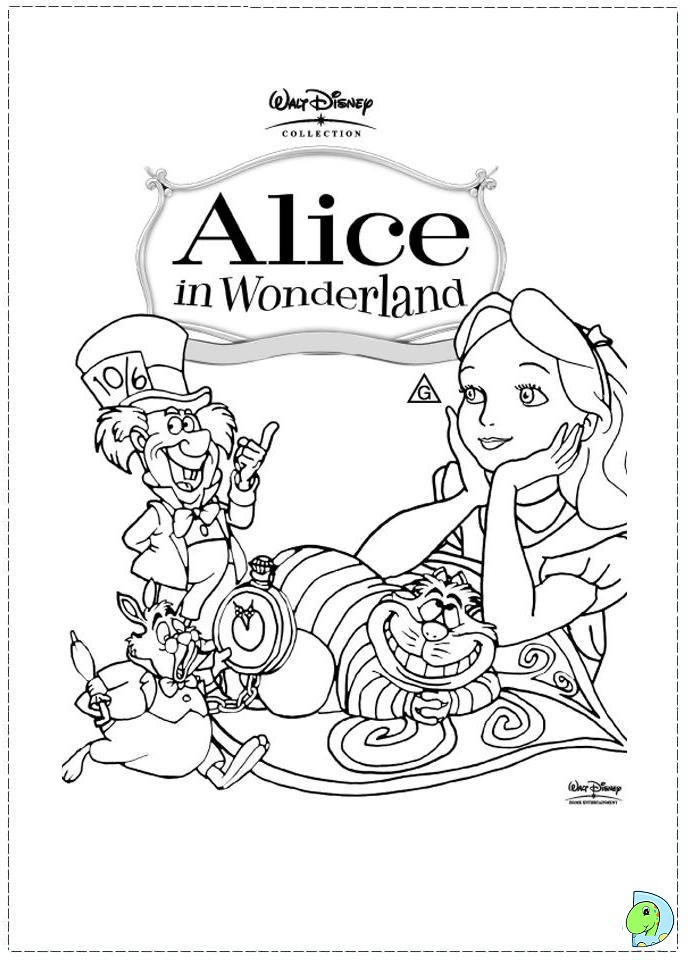 Free Coloring Pages Of Alice Wonderland