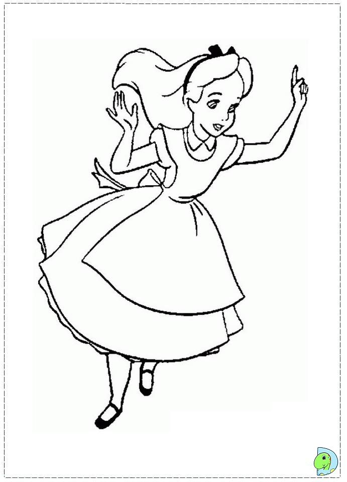 Coloring Pages Disney Alice In Wonderland : Free coloring pages of disney alice wonderland