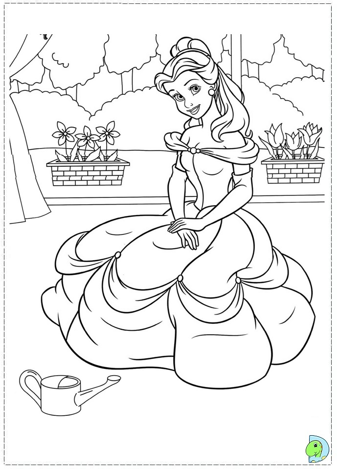 The beauty and the beast coloring page for Beauty and the beast coloring pages disney