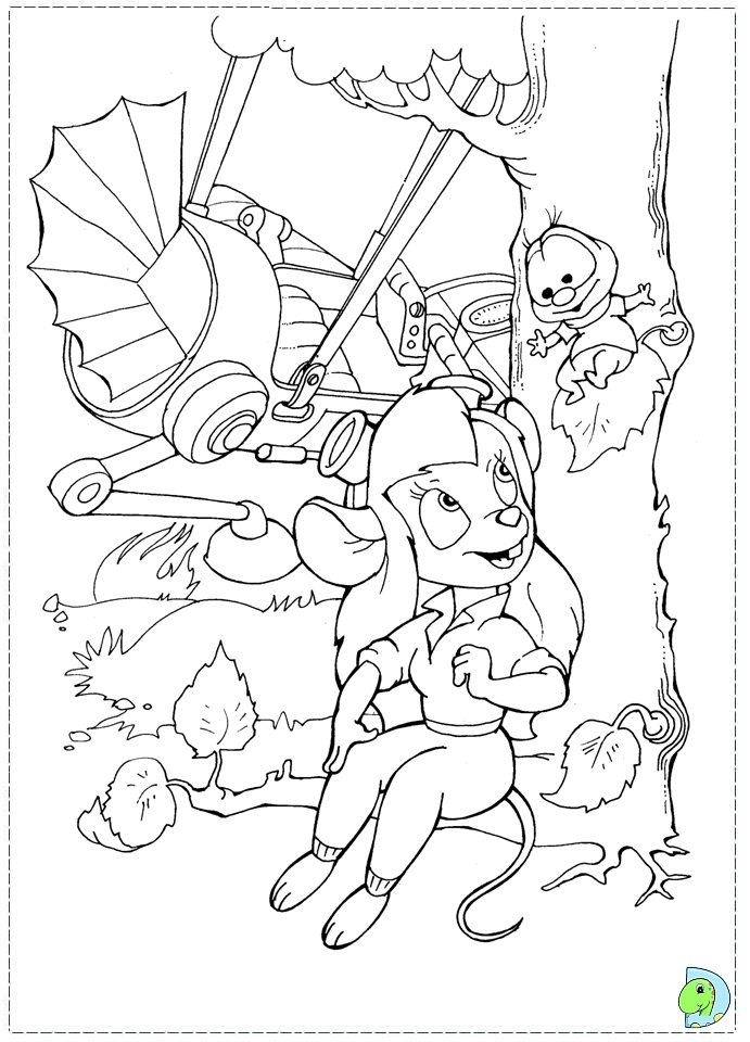 disneys chip dale coloring pages - photo#33