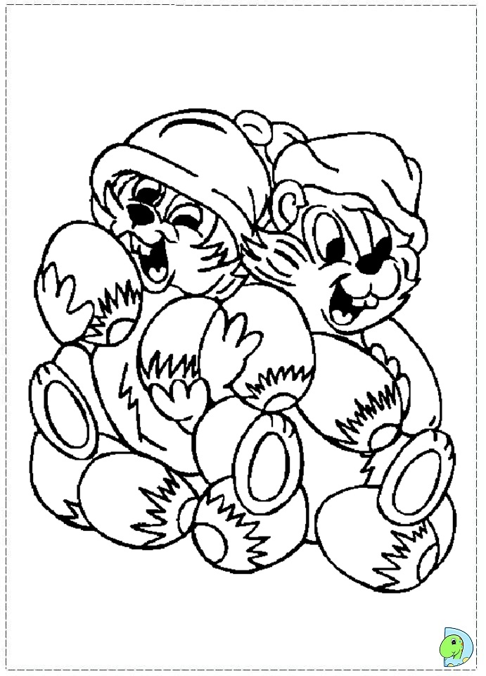 disneys chip dale coloring pages - photo#24