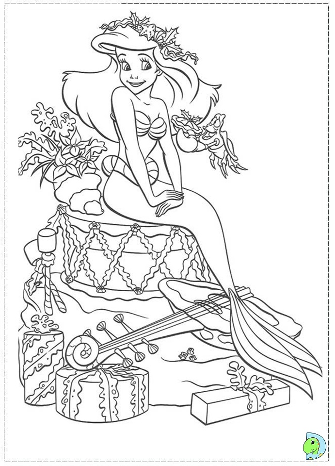 coloring pages disney princesses christmas - photo#3