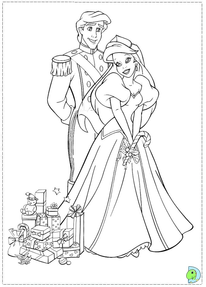 disney princess christmas coloring pages - photo#30