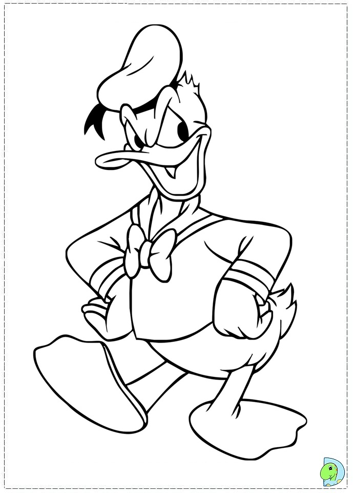Free Coloring Pages Of Donald Duck