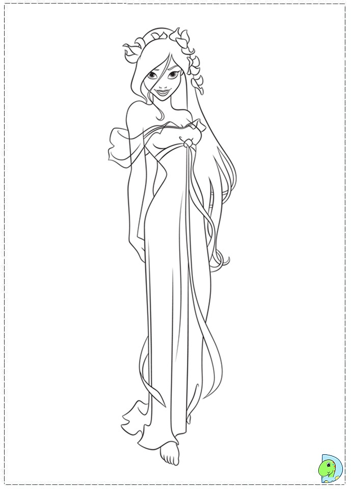 Hipster Princess Coloring Pages