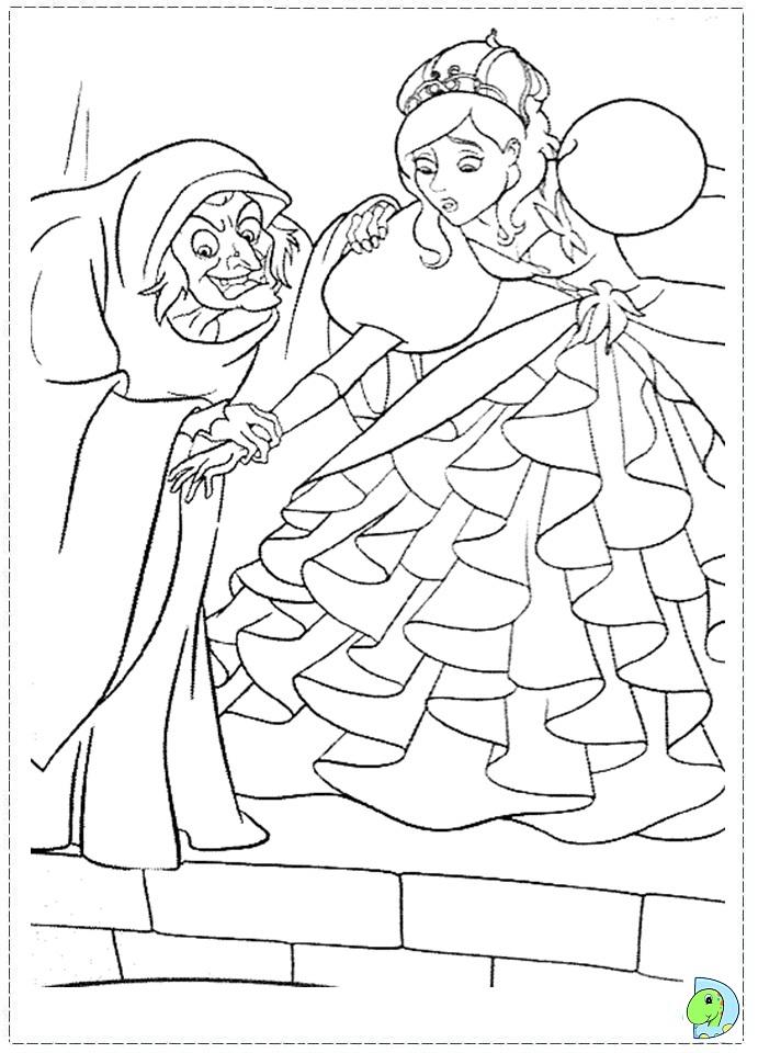 enchanted princess coloring pages - photo#9