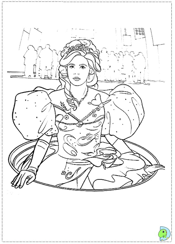 Enchanted Coloring Page Princess Giselle Coloring Page