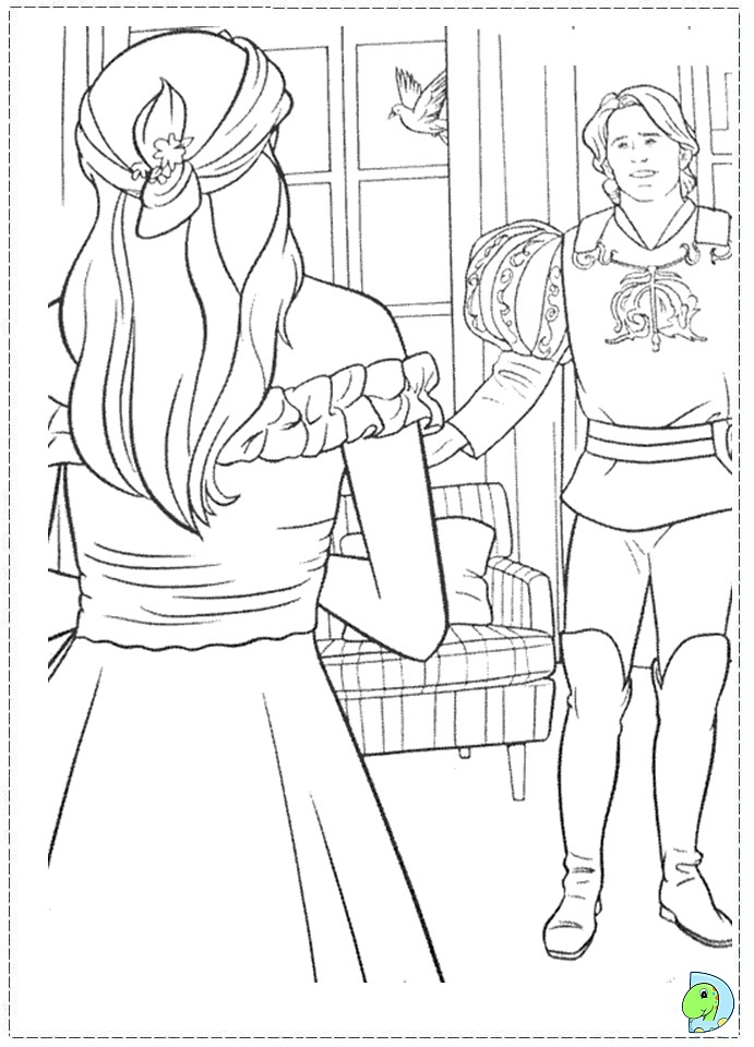 Princess Giselle Coloring Pages : Enchanted coloring page princess giselle