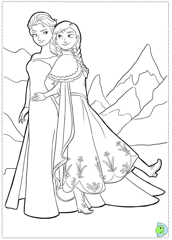 Frozen Disney Princess Coloring Pages Disney Princess Coloring Pages Frozen