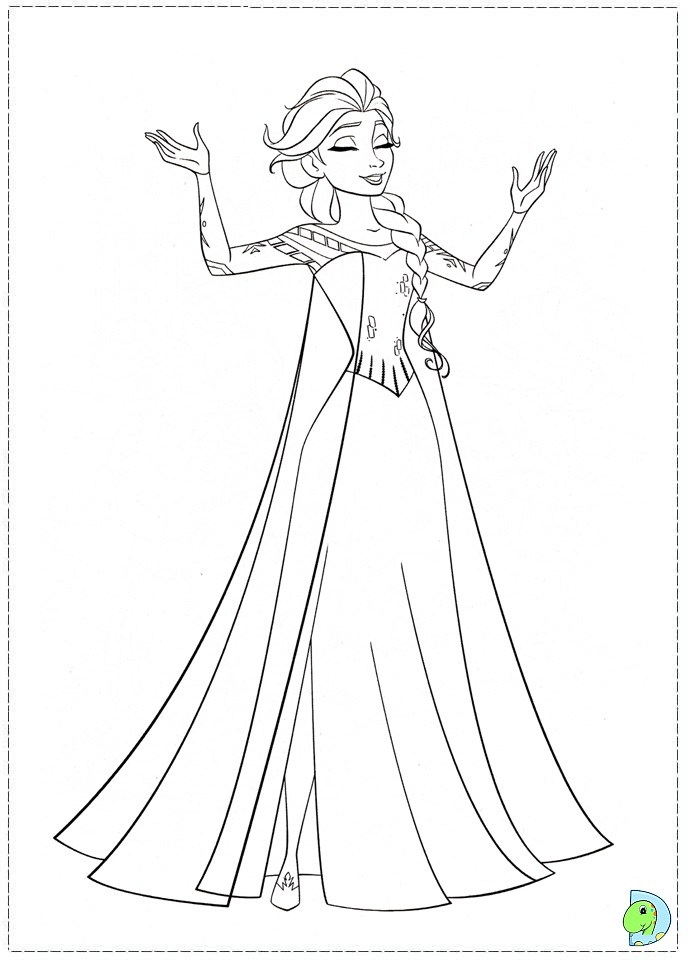 Frozen Coloring Pages Disneys Frozen Coloring Page