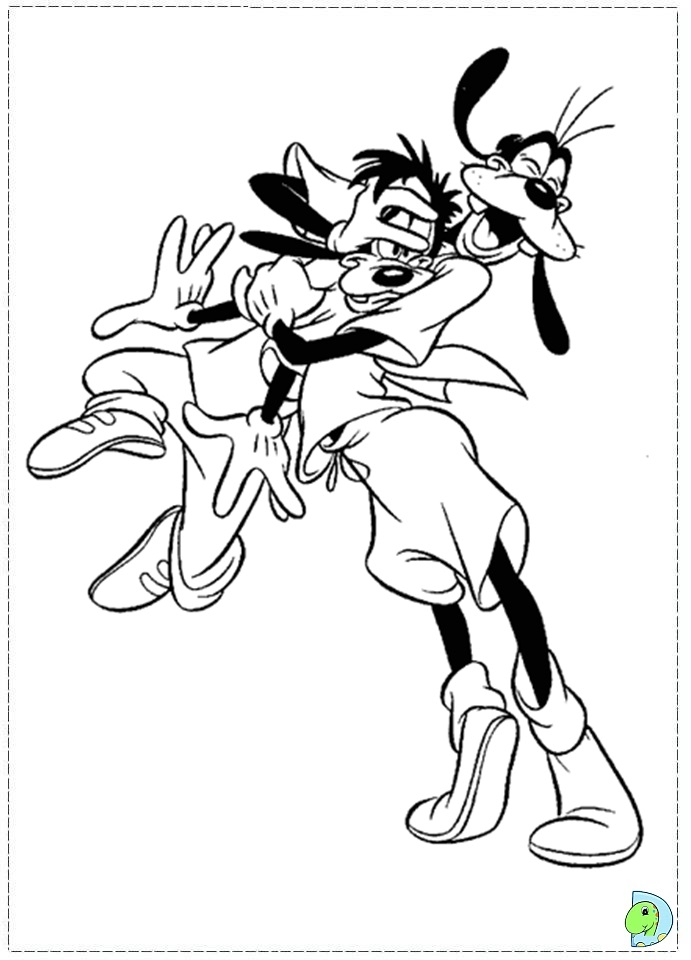 goofy movie coloring pages - photo#11