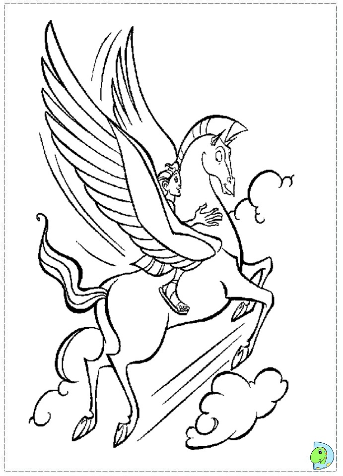 Pegasus Horse Disney Coloring Page - 16 pegasus coloring pages for ...