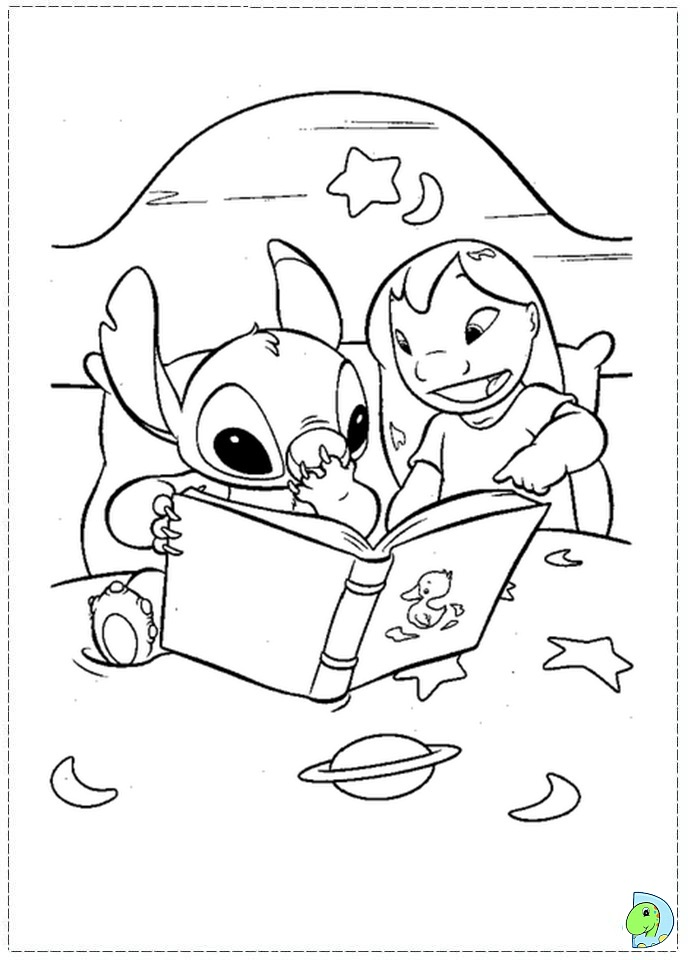 lilo and stitch coloring page dinokidsorg