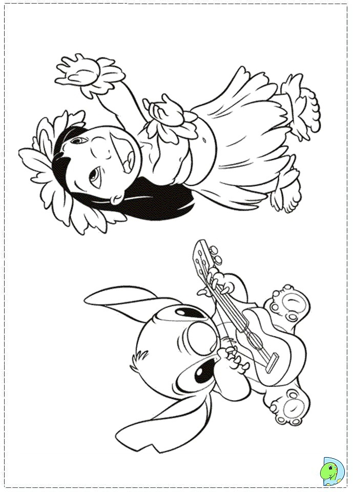 Lilo And Stitch Coloring Page Dinokids Org Coloring Pages Lilo And Stitch