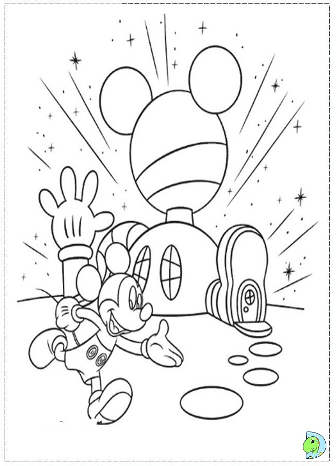 Mickey Mouse Clubhouse Coloring Page Dinokids Org Coloring Images Of Mickey Mouse Clubhouse