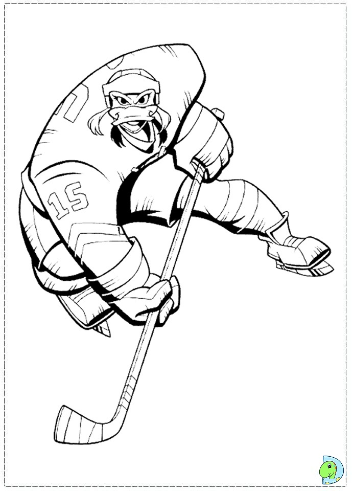 mighty ducks coloring page dinokidsorg