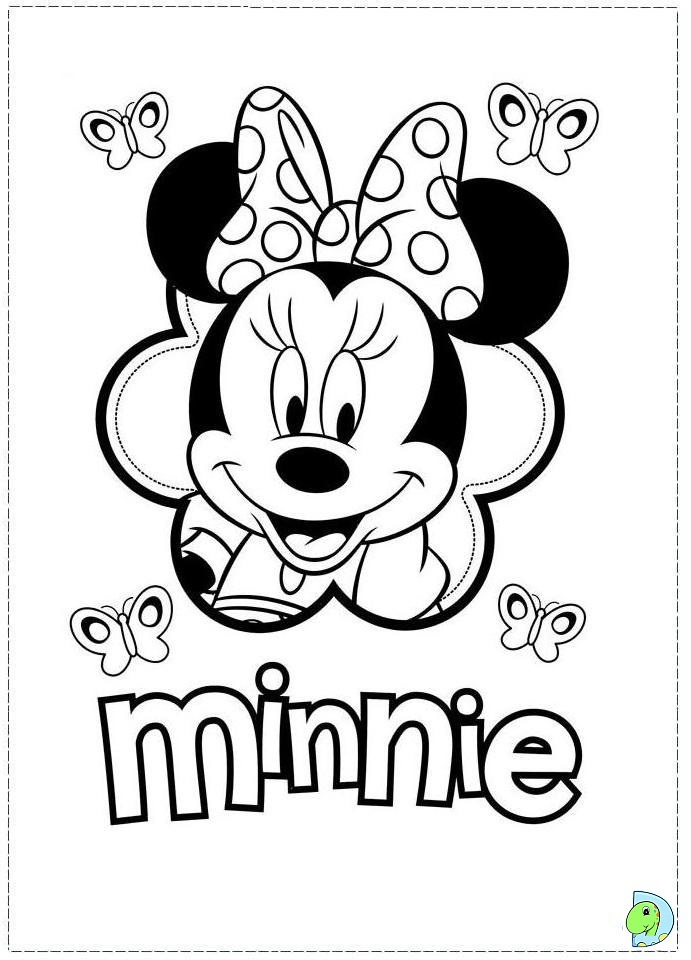 Free Coloring Pages Of Minnie Mouse Car