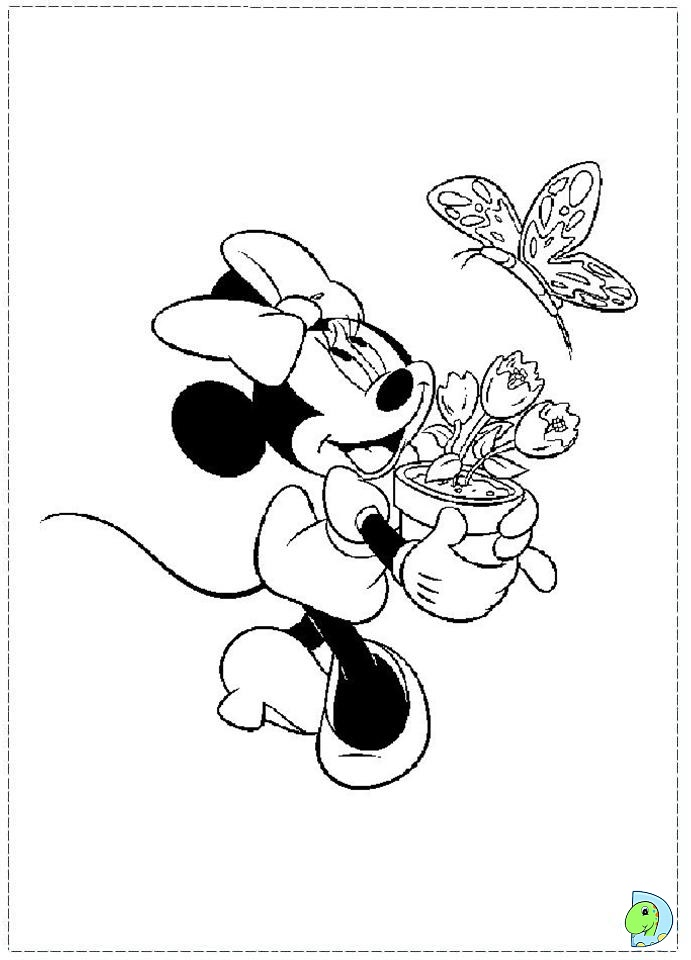 Free coloring pages of d minnie