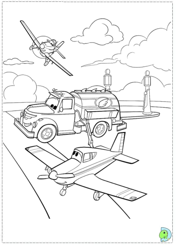 Disney Planes Coloring Pages Ripslinger : Disney planes dottie coloring pages