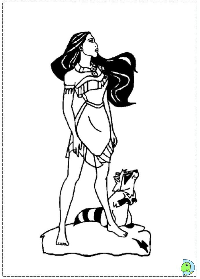 pocahontas meeko coloring pages - photo#25