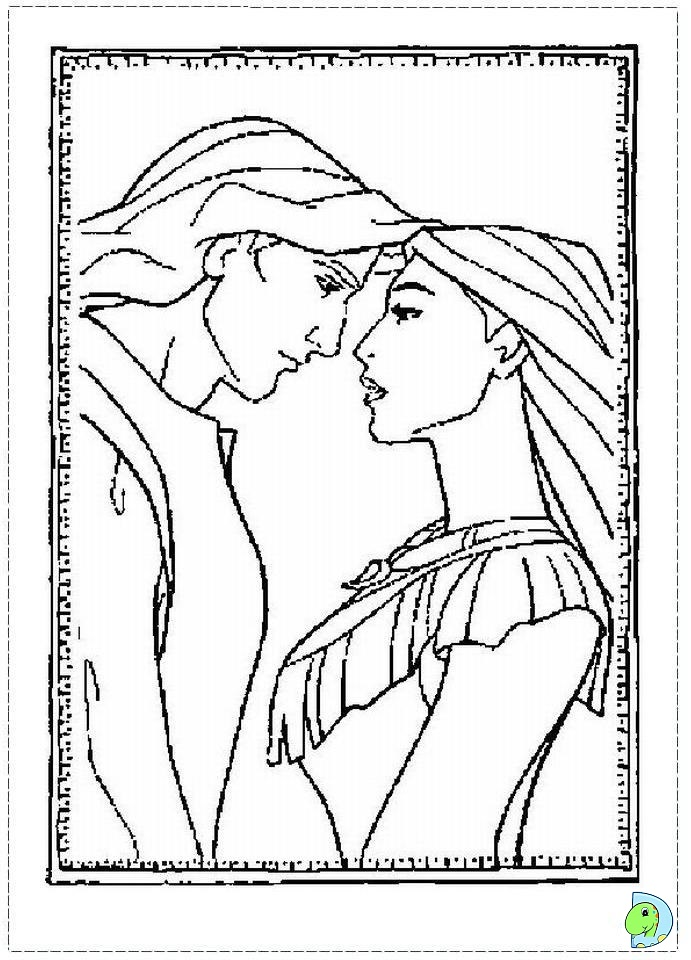coloring pages pocahontas disney search